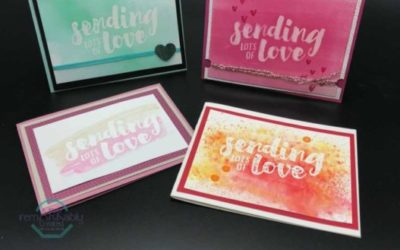 14 days of Valentine Ideas – Emboss Resist technique 4 ways with Lots of Love