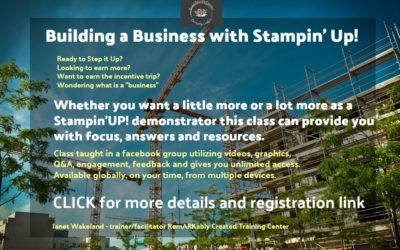 Building a Business with Stampin' UP! & Earning a trip to Maui – a class for Demonstrators