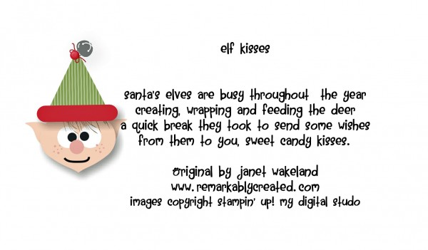 photo about Elf Kisses Printable known as CROPTOBER - My Electronic Studio Monday - Elf Kisses Elf