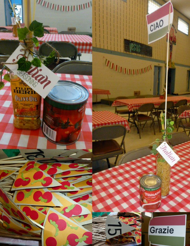 Italian theme remarkable creations for Italian decoration food