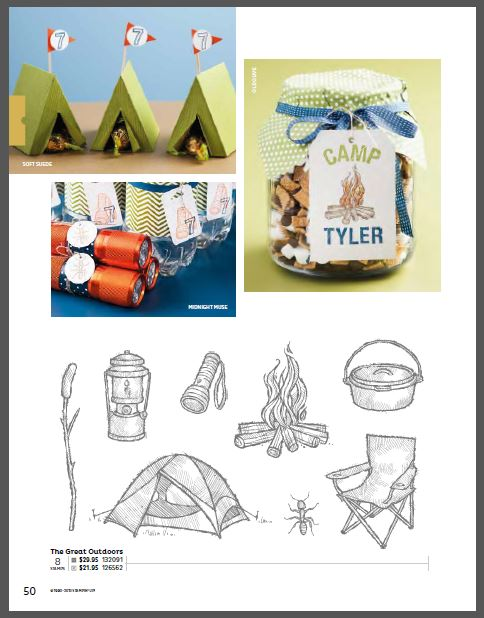 diy paper tents camping themed party remarkable creations