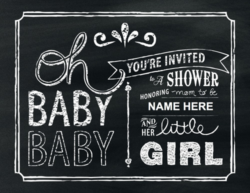 chalkboard art themed baby shower includes svg files to use with e