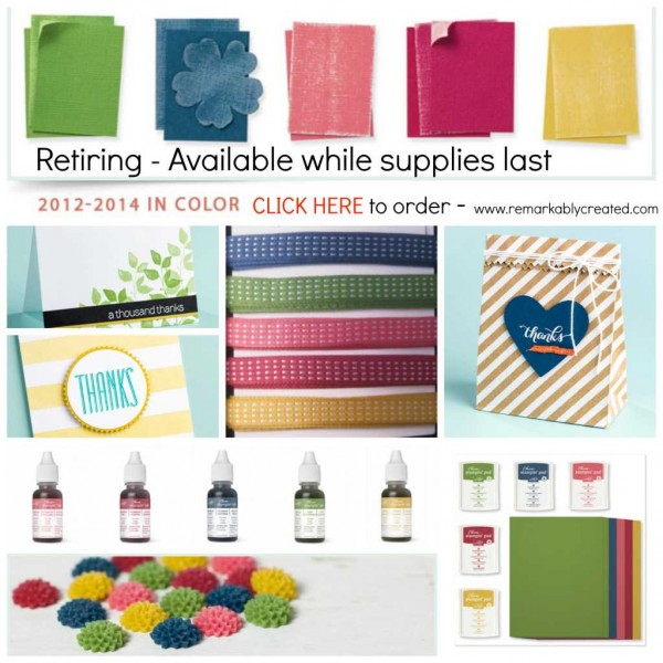 2014 In Colors Stampin Up: Stampin' UP! Retiring In Colors 2012-14 While Supplies