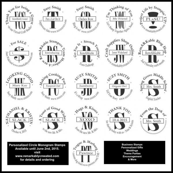stampin u0026 39  up  personalized stamps  u0026 circle monogram stamp retiring