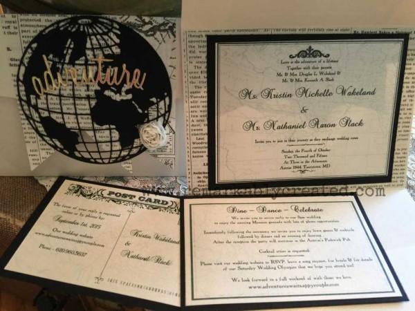 Custom Diy Travel Theme Wedding Invitation Remarkable