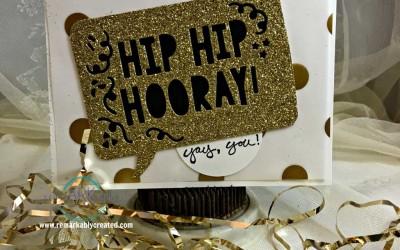 Stampin'  Up! Hip Hip Hooray Greeting Card – Free PDF tutorial