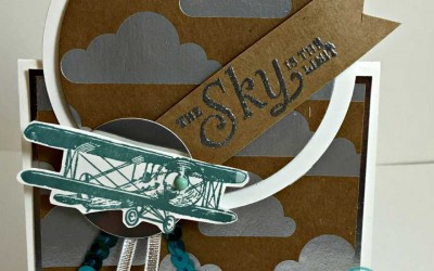 Time is Running out to get the SKY IS THE LIMIT stamp set from Stampin' UP!