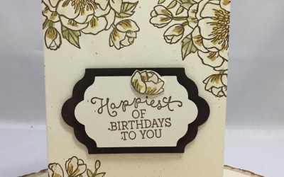 Stampin' UP! Birthday BLooms – Happiest of Birthday Free PDF tutorial