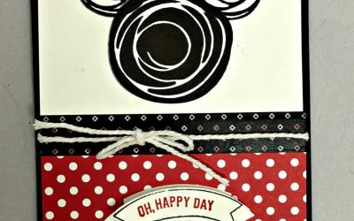 Stampin' Up! Swirly Birds  makes a great Mickey Disney Card