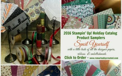 2016 Stampin' UP! Holiday Catalog Product Samplers & Shares