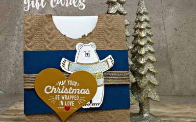 Warmth & Cheer festive Christmas Gift Card Holder