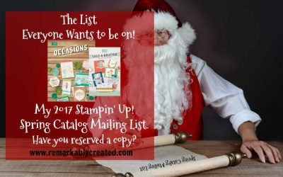 Reserve your copy of the Spring 2017 Stampin' UP! catalog today.