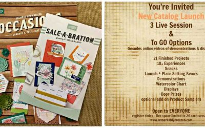 Save the Date and Join us for our 2017 Stampin' UP! Spring Occasions and Sale-a-bration launch party – live or to go!