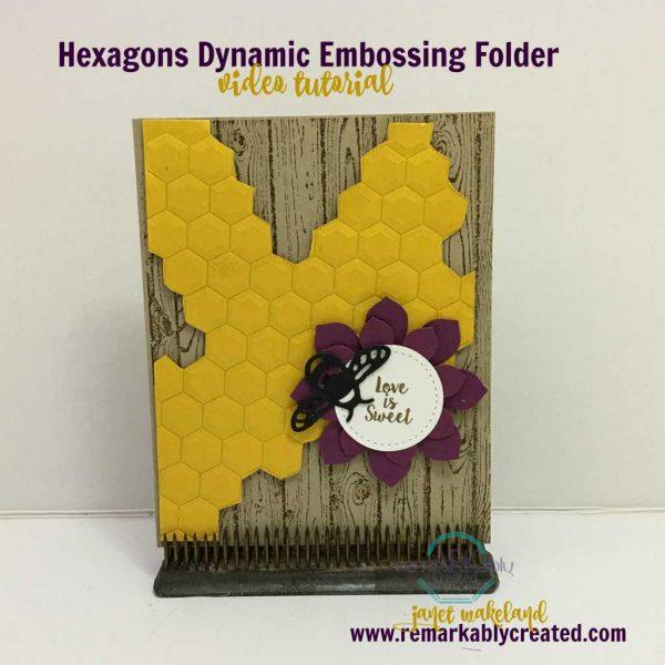 stampin u0026 39  up  hexogons dynimc folder honeycomb video tutorial