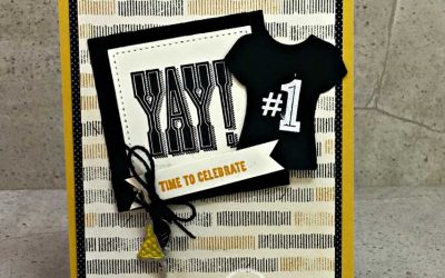 #HEREWEGO A Steelers Inspired handmade card featuring altered Party Animal Embellishments