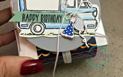 Day #17 – Daily Sale-a-bration post – Tasty Truck with altered Party Animal Embellishments