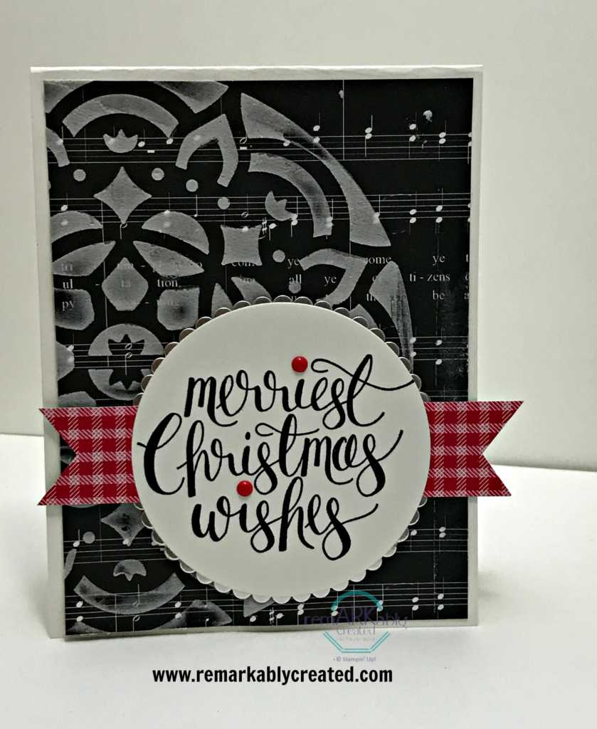 Check out this pretty handmade Black & White Christmas Cards ...