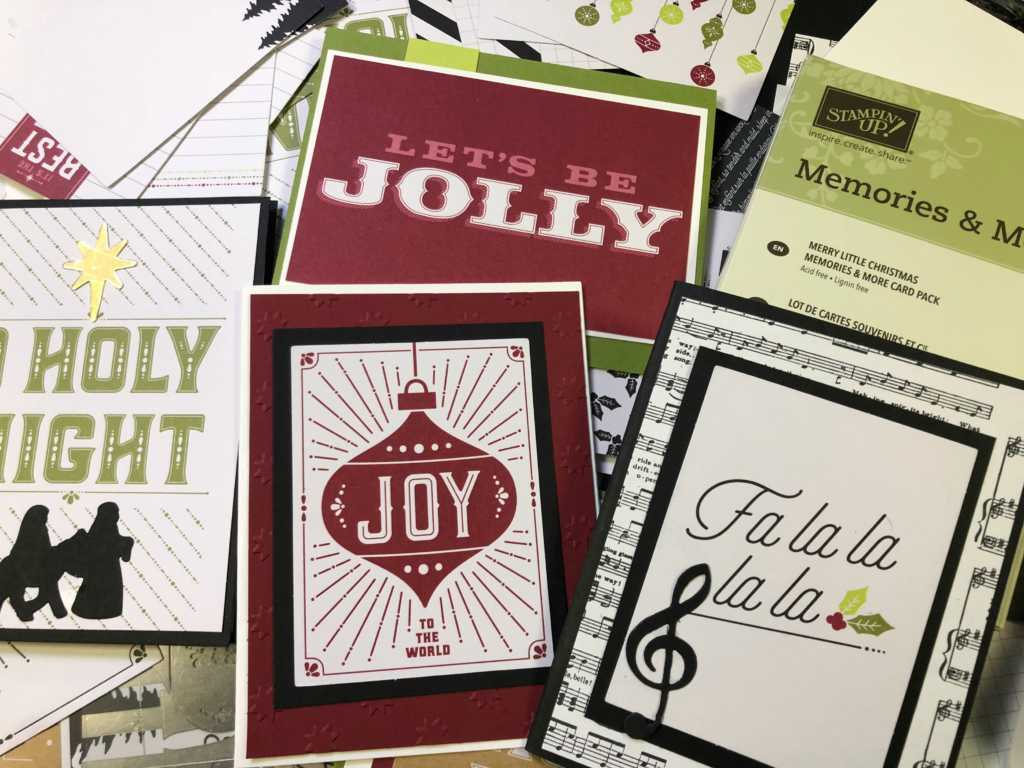 Easy With A Stash Of Whisper White Basic Black Cherry Cobbler Old Olive And Assorted Big Shot Diesitseasy To Create Clean Simple Holiday Cards