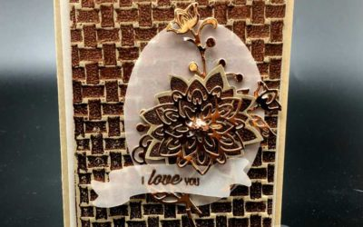 14 Days of Valentines Ideas – Day #11 Copper Basket Weave Embossing Folder