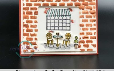 How to create a brick wall with Stampin'UP!'s embossing paste.