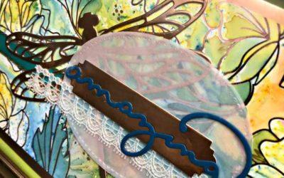 Stampers Dozen Blog Hop – Sale-a-bration  Springtime Foils Designer Paper framed art