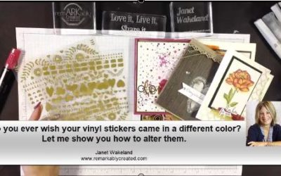 Do You Ever Wish Stampin' UP!'s Gold Vinyl Stickers came in more colors?