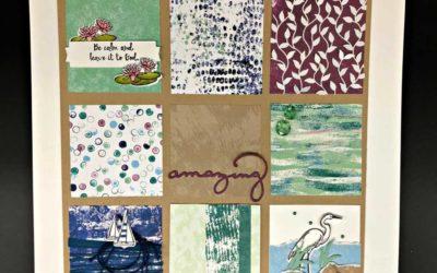 Lilypad Lake Designer Paper Sampler – Soon to be released Stampin' UP! stamps & framelits