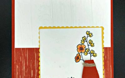 Varied Vases Stamp set and paper punch bundle from Stampin' UP!