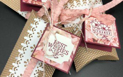 Darling Label Punch Box makes cute Pillow Box Tags