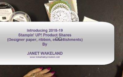 2018 Stampin' UP! Designer Paper Shares, Ribbon Splits and Embelllishment Samplers