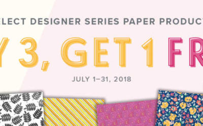 Buy 3 Get one 1 Free – Designer Paper Sale from Stampin' UP!