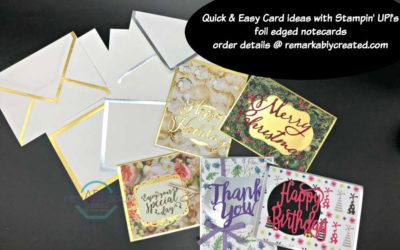 Gold & Silver Foil Edged notecards