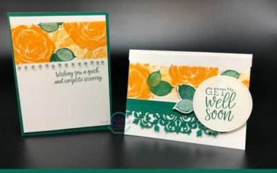 Stamped Band Technique – a fun and easy card layout idea for you.