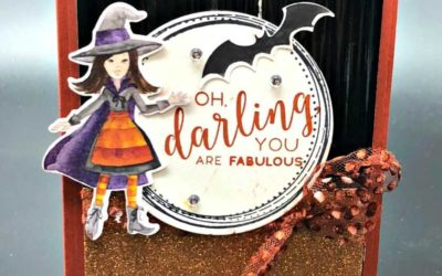 Oh Darling Toil & Trouble Designer Paper Free Tutorial too download