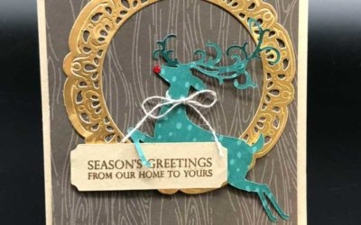 Two holiday cards featuring Dashing Deer by Stampin' UP!