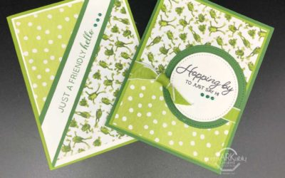 Stampin' UP! Toil & Trouble Designer paper makes cute frog cards