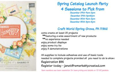 Stampin' Up! Spring Catalog Launch Make N' Take Festival