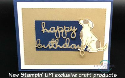 Stampin' UP! Happy Tails & Well Said Bundle create sweet birthday card