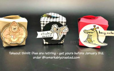 Takeout Box Thinlits from Stampin' UP! retiring