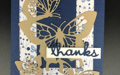 Stampin' UP! Butterfly Beauty Thinlit Dies – Free Step by Step PDF tutorial
