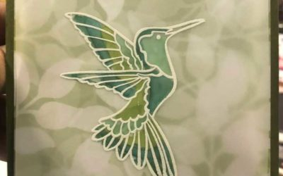 Humming Along Humming Bird Embossed Card from Stampin' UP!