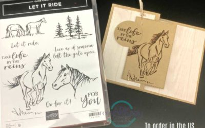 Let it Ride stamp set quick notecards