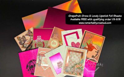8 Card Ideas with Stampin' UP!'s Grapefruit Grove and Lovely Lipstick Foil Sheets
