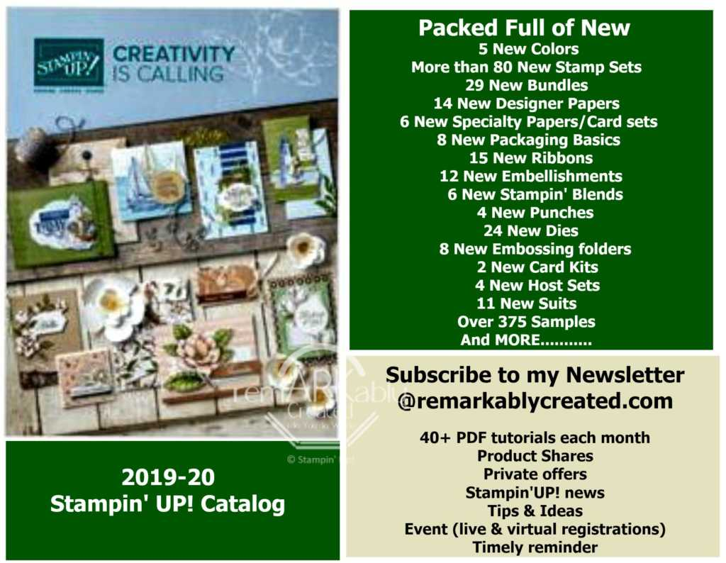 Free copy of the 2019 Stampin' UP! Holiday Catalog