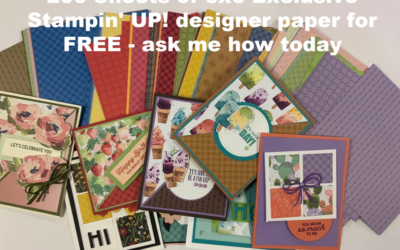 FREE 200 Sheets Stampin' UP! Designer Paper beginning January 5th – check it out!