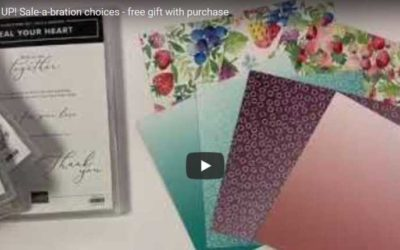 Check out the 2021 Stampin' UP! Exclusive Sale-a-bration FREE gifts with purchase
