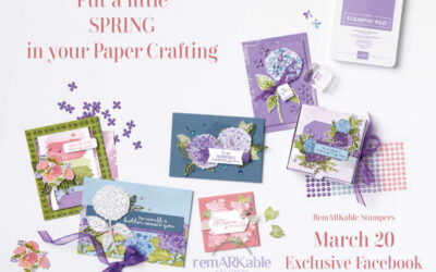 Stampin' UP! Spring Crafting Facebook Party -Come Join Us!