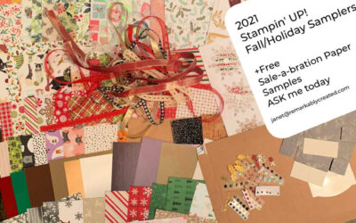 2021 Stampin' UP! Holiday & Fall catalog Product Samplers & Paper Shares