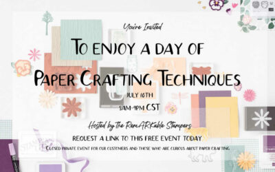 A Day of Paper Crafting Techniques